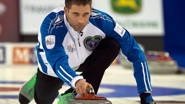 John Morris, pictured here, has replaced Kevin Koe as skip of the Canadian men's curling team. He will join third Pat Simmons, second Carter Rycroft and lead Nolan Thiessen at the 2015 Brier in Calgary.