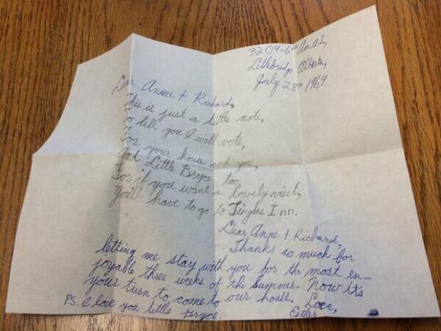 Calgary letter arrives late