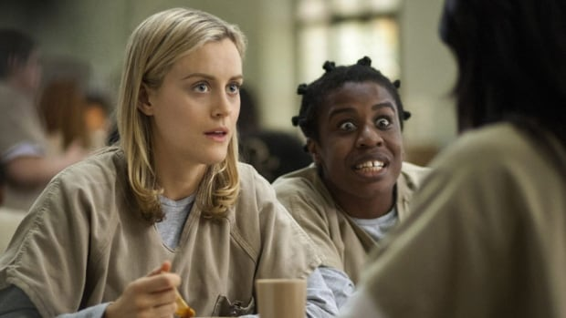 Netflix is raising its rates for new subscribers after finding it expensive to make series such as Orange is the New Black, starring Taylor Schilling, left, and Uzo Aduba.