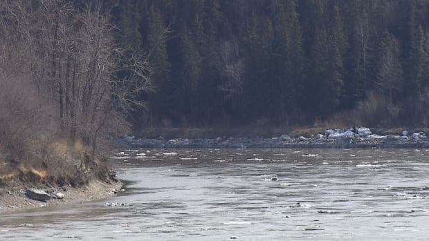 The North Saskatchewan River was calm Tuesday, but levels are expected rise Wednesday and Thursday.