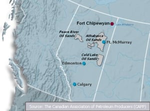 Fort Chipewyan map