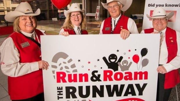 The Calgary Airport Authority is inviting people to come out to run or roam on the country's longest runway before it opens in late June.
