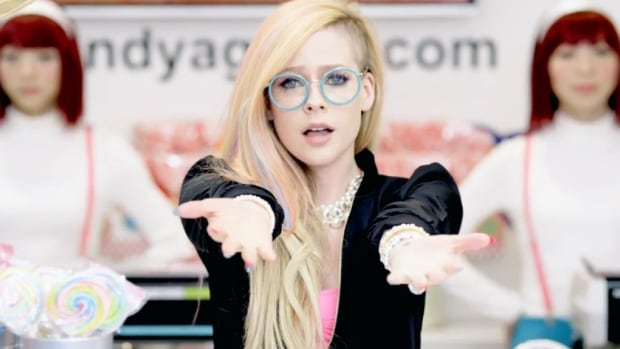 Avril Lavigne is defending her brightly coloured music video for Hello Kitty, which some have criticized as insipid and offensive.