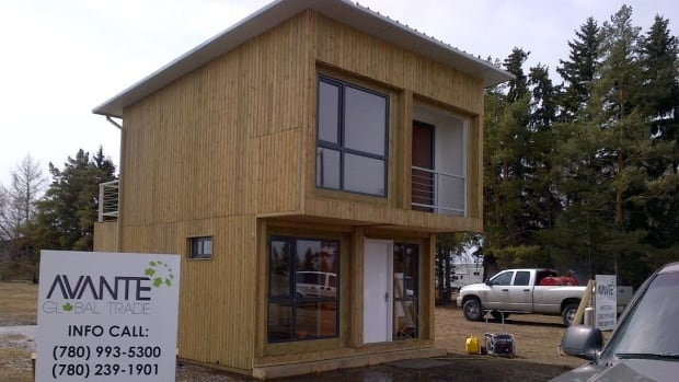This container home in southwest Edmonton is a single pilot model built by entrepreneurs  Sergio Torres and Chad Osman.