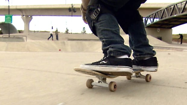 Community members on the Morley reservation are working toward building a smaller indoor version of Calgary's Shaw Millenium skate park, which is pictured above.