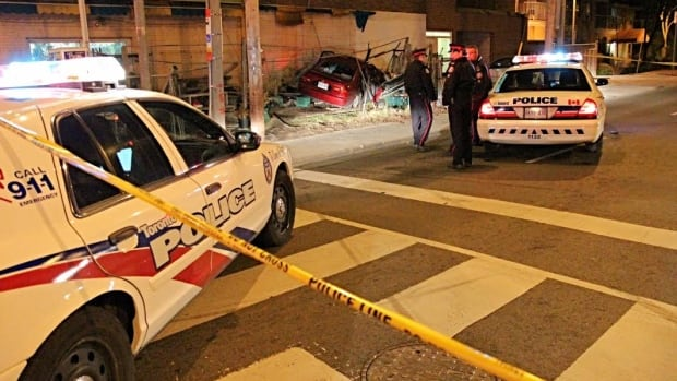 A brief high-speed chase in the city's west side ended Wednesday after the fleeing vehicle crashed into a garden centre.