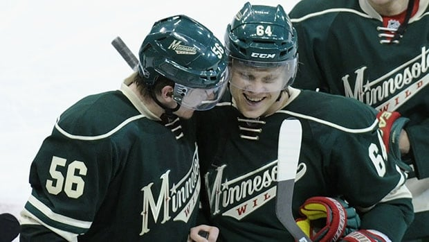 Mikael Granlund, right, kept Minnesota in the series with his dazzling OT winner in Game 3 against Colorado.