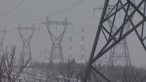 Transmission lines outside Holyrood generating station