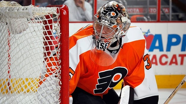 Steve Mason hasn't started a playoff game in five years, since his rookie season with Columbus.