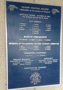 City Hall plaque