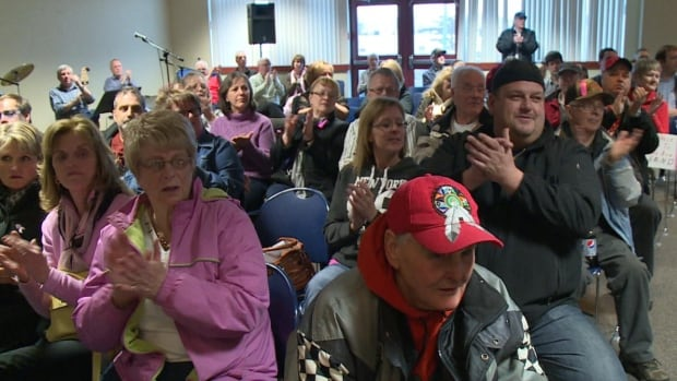 More than 450 people gathered for a public forum in Corner Brook on Thursday night to demand that a radiation unit be installed in a new regional hospital.