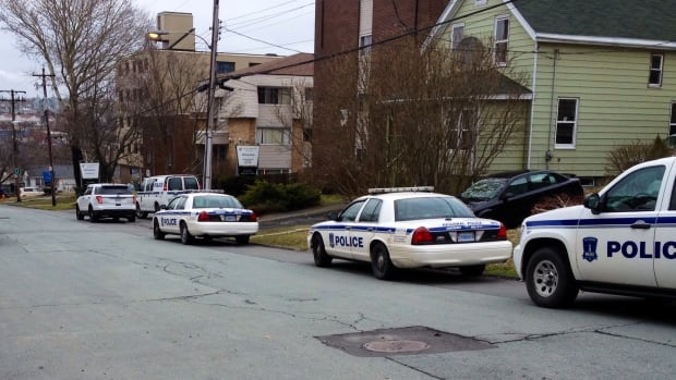 Police say a man barricaded himself in an apartment on Evans Avenue Friday morning.