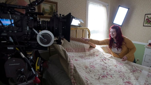 Australian actor Melissa Bergland is seen on the set of Relative Happiness in Hubbards, N.S. in November. The romantic comedy is directed by St. John's-based Deanne Foley.
