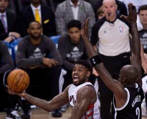 BKN Nets Raptors Basketball 20140422