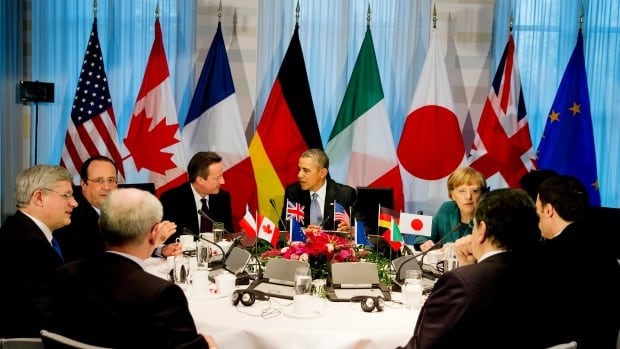 G7 world leaders gather in The Hague, Netherlands for a two-day Nuclear Security Summit last month. The G7 announced Friday it would be imposing additional sanctions on Russia over the continuing crisis in Ukraine.