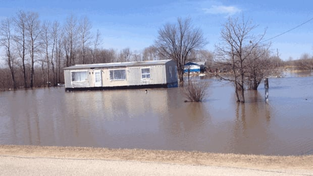 Flooding at Peguis First Nation that has forced dozens of people out of their homes.