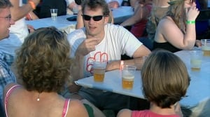 Festival beer garden - stock - B.C.