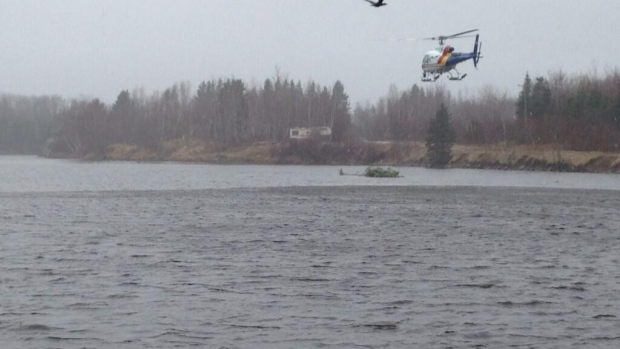 An RCMP helicopter joined the Scoudouc River search on the weekend.