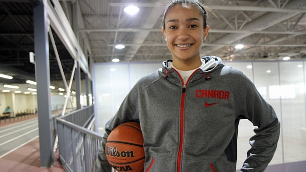 A Grade 9 student at St. Thomas More Catholic Secondary in Hamilton, Hailey Brown trains at McMaster University in the hopes of eventually playing for the Canadian women's basketball team.