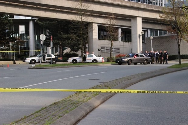 Gateway SkyTrain Station - Transit Police - shots fired - April 27, 2014