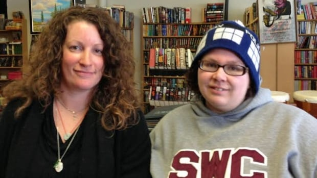 The Bookshelf owner Jennifer Blanchette with friend and long-time customer