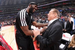 Donald Sterling and Reggie Evans
