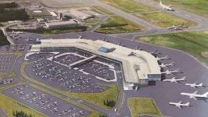 Artist's rendition of expansion planned for St. John's International Airport