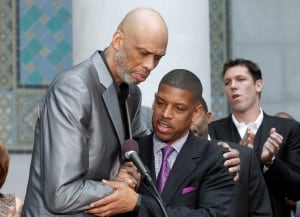 Kevin Johnson-Kareem Abdul-Jabbar-Donald-Sterling