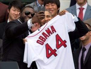 Obama Red Sox Baseball