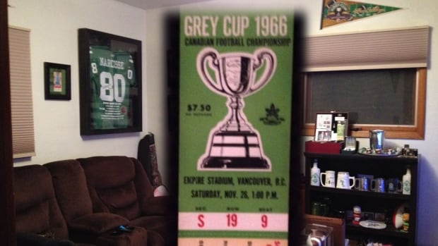 Riders memorabilia collector Brent Goodwin recently came into possession of the Holy Grail of Green-and-White rarities: an unused ticket from the 1966 Grey Cup game.