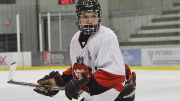 Stelio Mattheos played last season with the Winnipeg Monarchs of the Winnipeg AAA Bantam Hockey League.