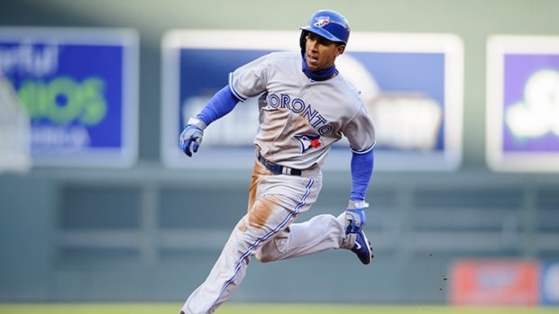 Toronto's Anthony Gose runs for third during a game against Minnesota in early April.
