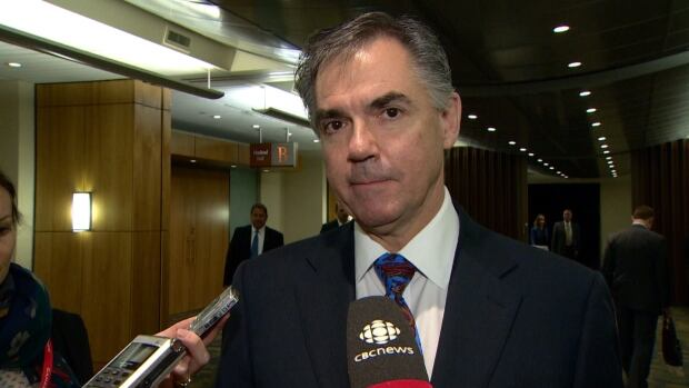 Former Calgary MP Jim Prentice tells reporters he will have more to say about his Alberta PC leadership run in the coming days.