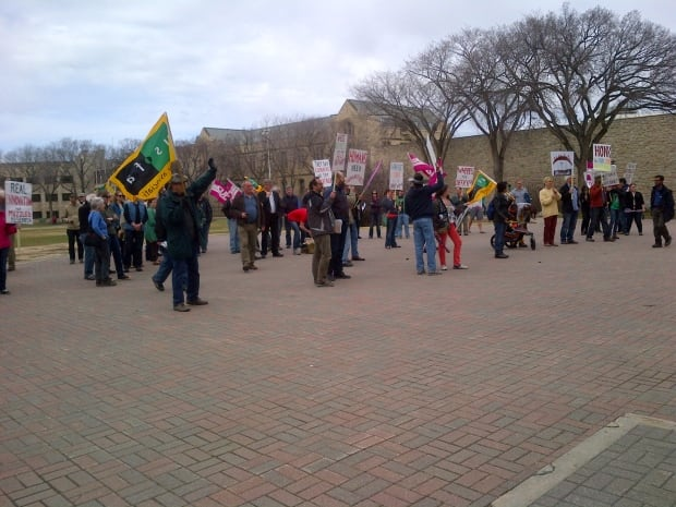 TransformUS protest rally at U of S