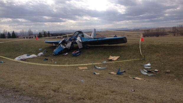 Emergency crews are on the scene of a plane crash near Calaway Park west of Calgary.