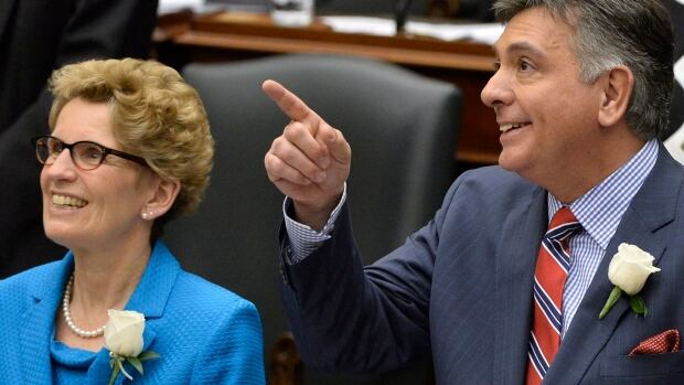 Premier Kathleen Wynne and Finance Minister Charles Sousa are seen introducing their budget back in May -- that was before NDP Leader Andrea Horwath made it clear that her party wouldn't support it and before an election was called.