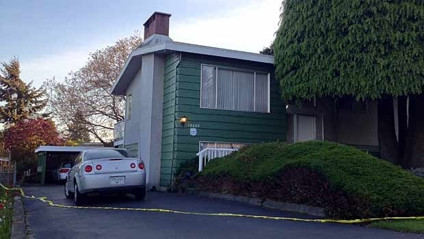 Police are investigating after two bodies were found inside this North Surrey home on Thursday afternoon.