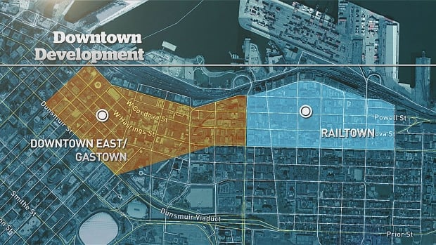 Railtown District is east of Gastown, West of Main and bordered by Hawks Avenue