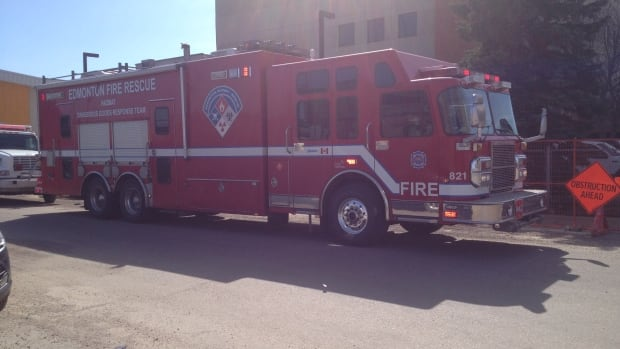 Edmonton police, EMS, fire department and hazmat crews responded to another call of a suspicious package on Friday.