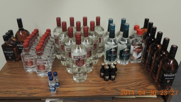 Fort Liard RCMP seized 29 bottles of vodka and a vehicle allegedly involved in bootlegging on Wednesday.