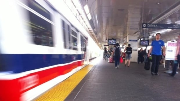 Millennium Line SkyTrain  is terminating at Columbia Station due to a switch issue.