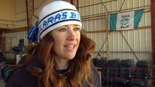 Olympian Clara Hughes visits Iqaluit as part of her 'Big Ride' across Canada in support of mental health.