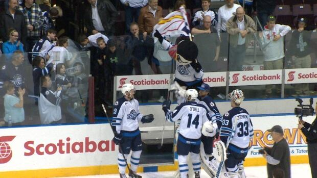 The St. John's IceCaps won the first round of the playoffs, defeating the Albany Devils in game 4 in a best-of-five series Friday night.