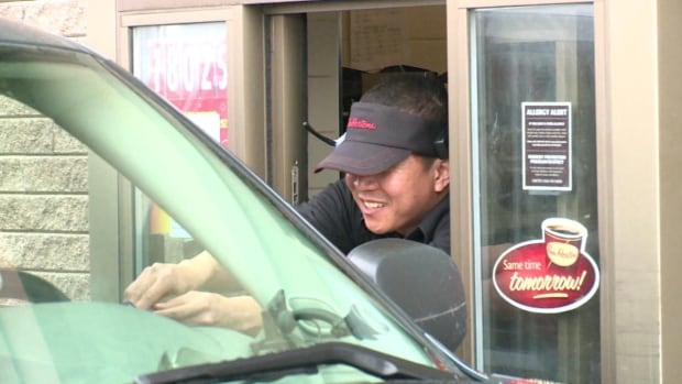 Temporary foreign workers make up 40 per cent of the staff at the Happy Valley-Goose Bay Tim Hortons alone. They're all worried about their futures if the program's suspension isn't lifted.