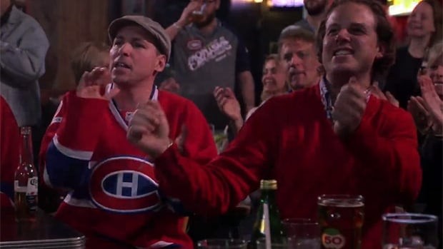 David Jalbert (left) lent his voice to the pro-Habs video produced by La Taverne.