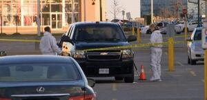 Forensic investigators at scene of Weston/Highway 7 shooting