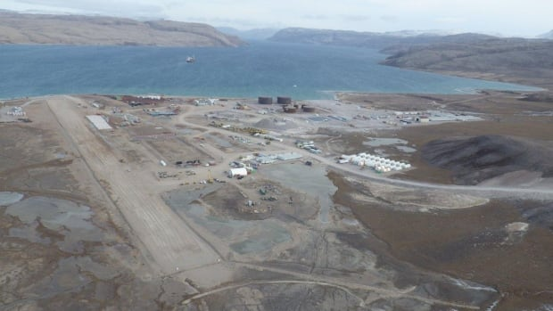 An aerial view of Milne Inlet on North Baffin, September 2013. Baffinland says it will begin stockpiling iron ore at the site this summer or fall, and start shipping it in the open water season of 2015.