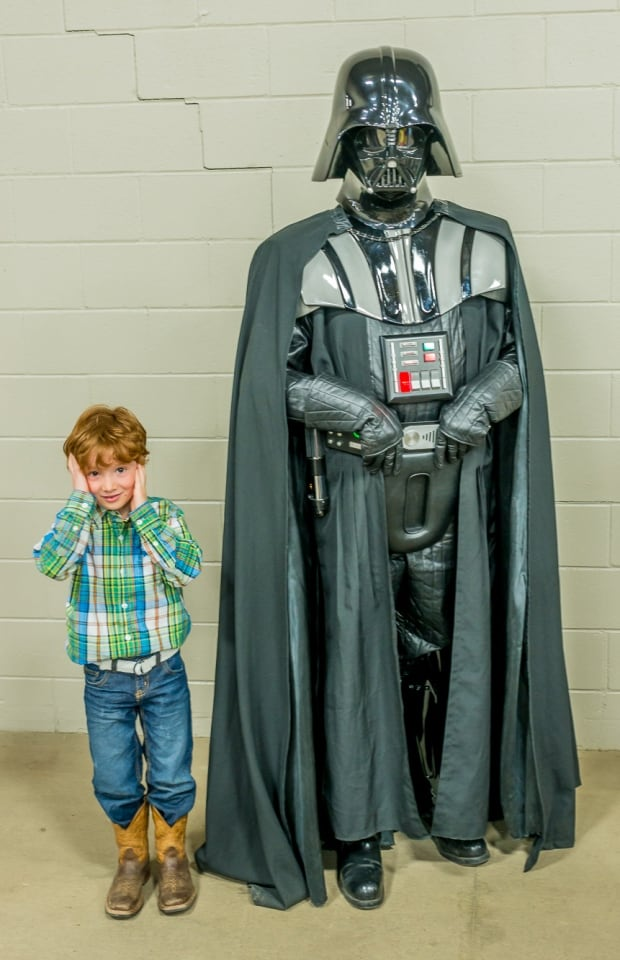 Youngster meets Darth Vader skpic