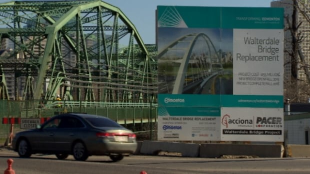 Construction on a replacement for the existing Walterdale bridge is expected to continue through to late 2015.