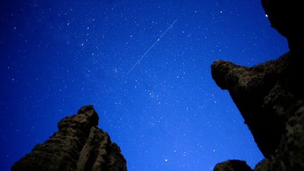 The annual Eta Aquarids meteor shower was expected to offer stargazers a glimpse of up to 60 meteors per hour.